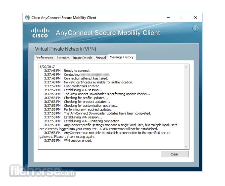 Cisco AnyConnect Secure Mobility Client 4.9.06037 Screenshot 1