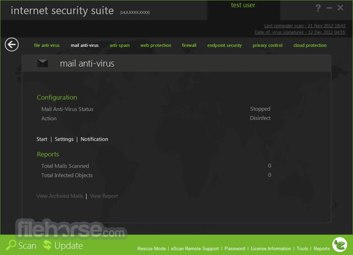 eScan Internet Security Suite 14.0.1400.2103 Screenshot 3