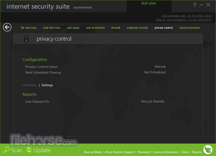 eScan Internet Security Suite 14.0.1400.2103 Screenshot 5