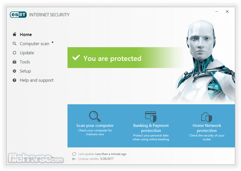ESET Internet Security 11.0.159.0 (64-bit) Captura de Pantalla 1