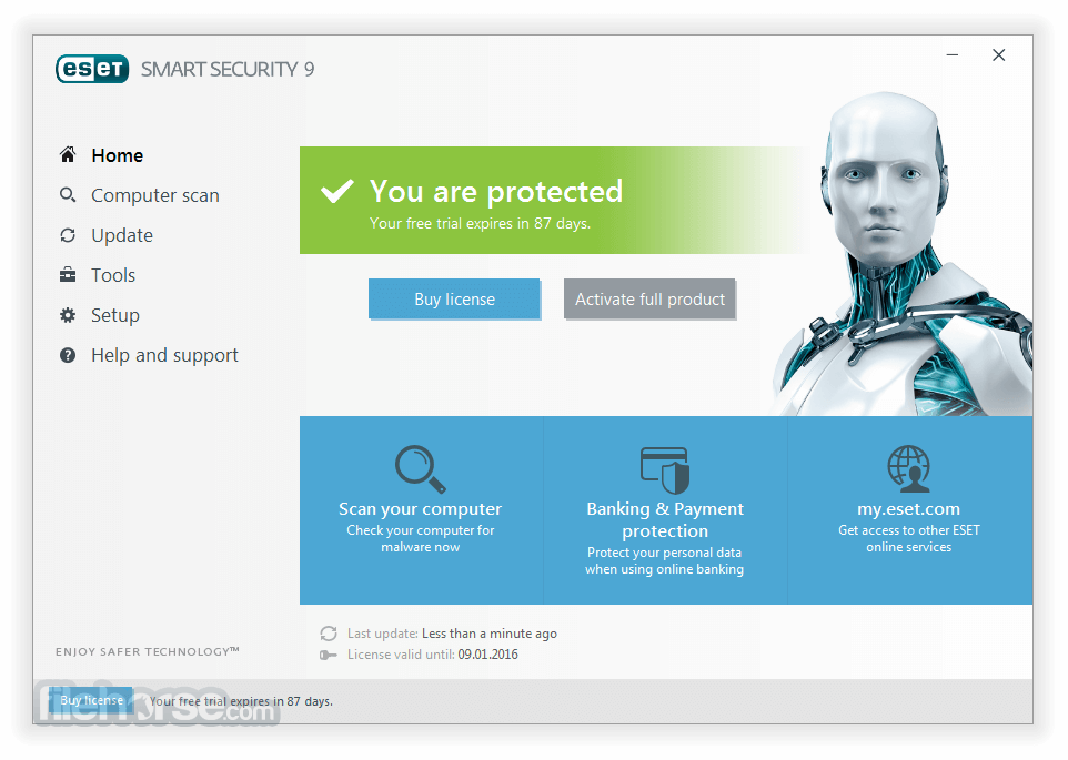 ESET Smart Security 10.1.204.0 (64-bit) Screenshot 1