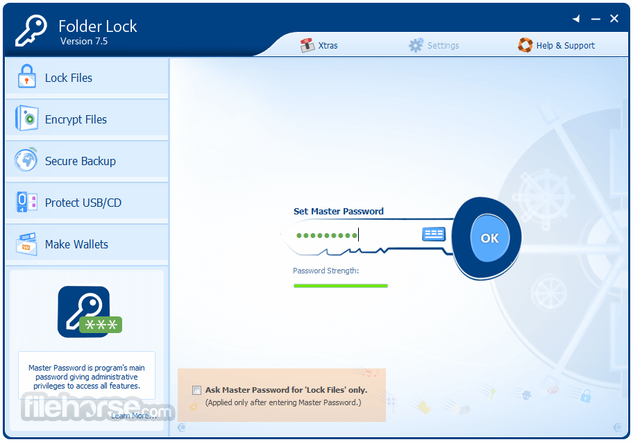 Folder Lock 7.7.4 Captura de Pantalla 1