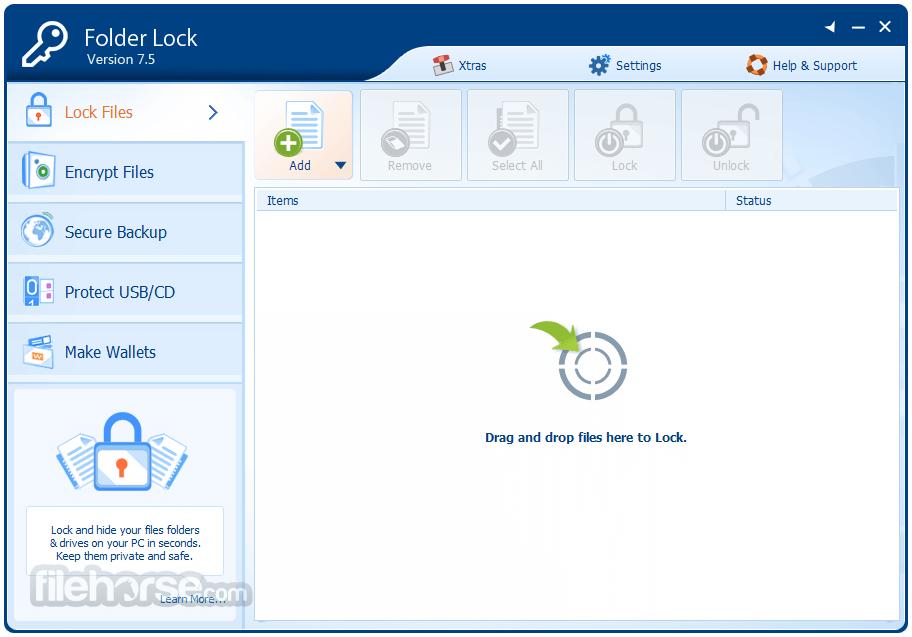 Folder Lock 7.7.2 Captura de Pantalla 2