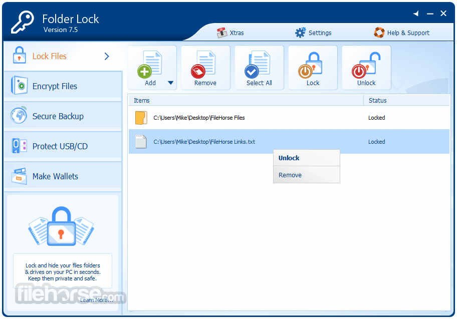 folder lock pc serial number and registration key