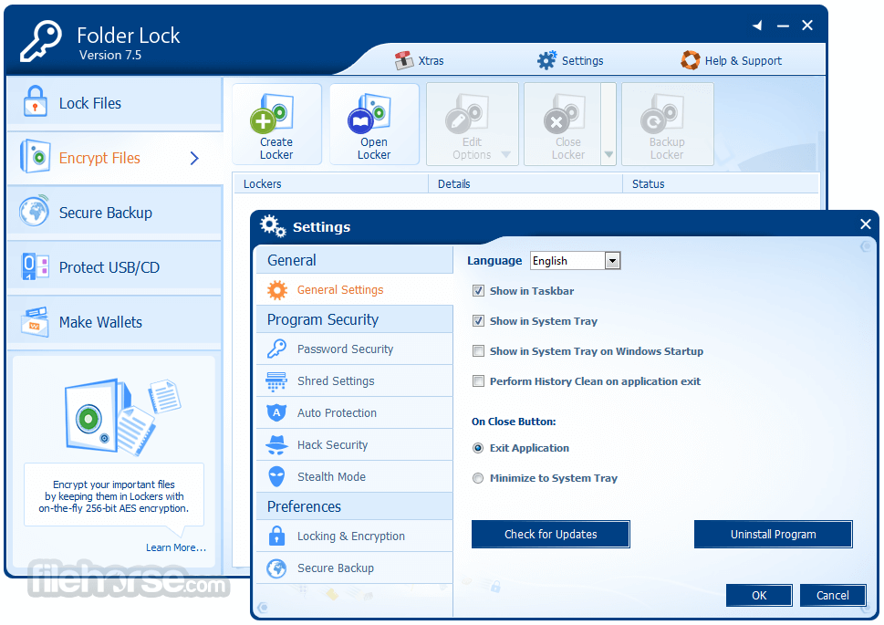 Folder Lock 7.7.4 Captura de Pantalla 5