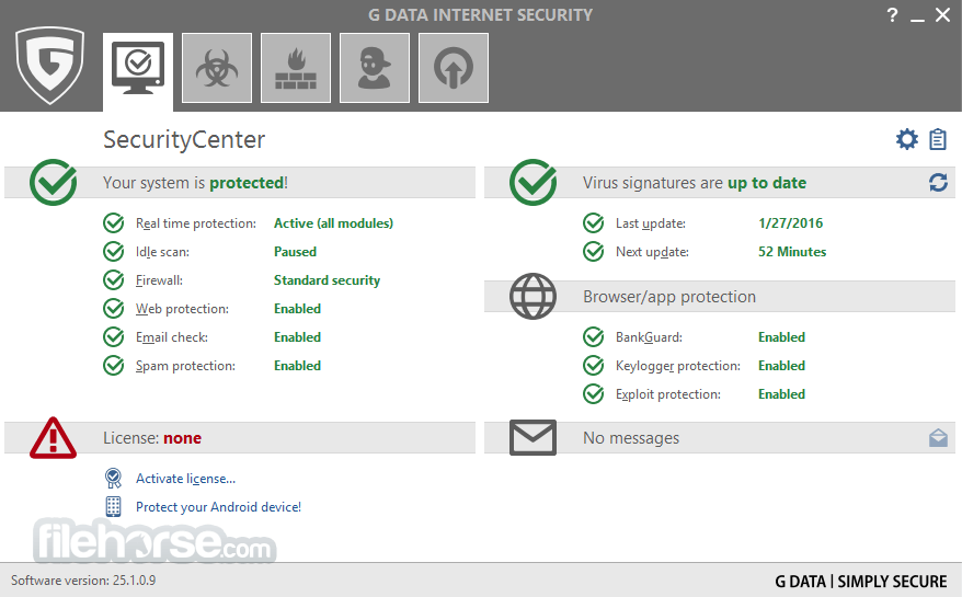 G DATA Internet Security 25.4.0.4 Captura de Pantalla 1