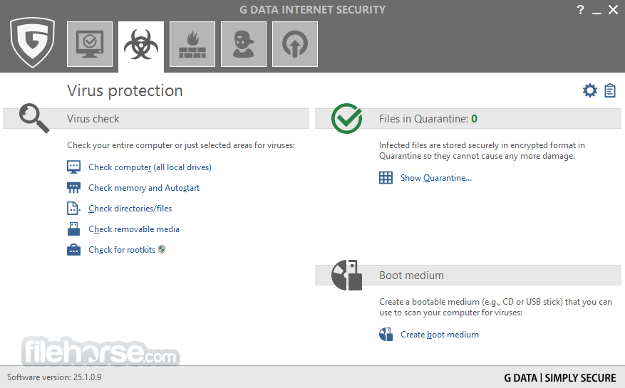 G DATA Internet Security 25.4.0.4 Captura de Pantalla 2