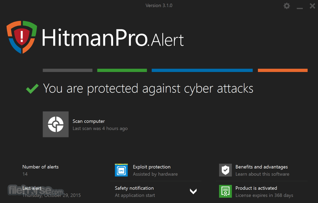 HitmanPro.Alert 3.7.6 Build 739 Captura de Pantalla 1