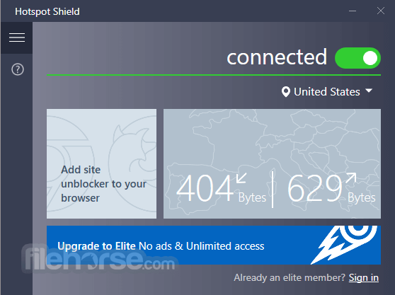 Hotspot Shield 7.5.0 Screenshot 1