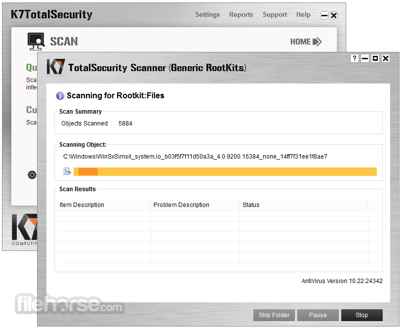 K7 TotalSecurity 15.1.0323 Screenshot 3