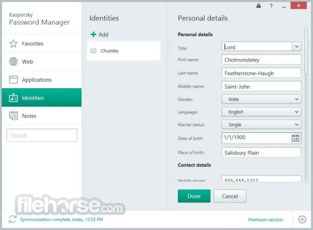 Kaspersky Password Manager 8.0.5.485 Captura de Pantalla 4