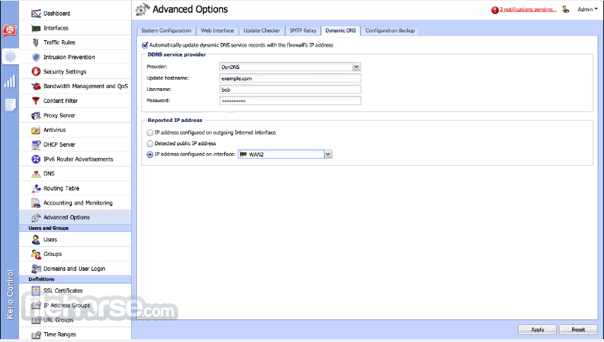 Kerio Control 9.2.3 Build 2219 Captura de Pantalla 5
