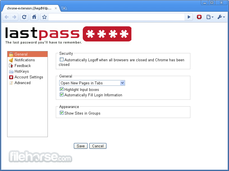 LastPass 3.1.0 (32-bit) Screenshot 5