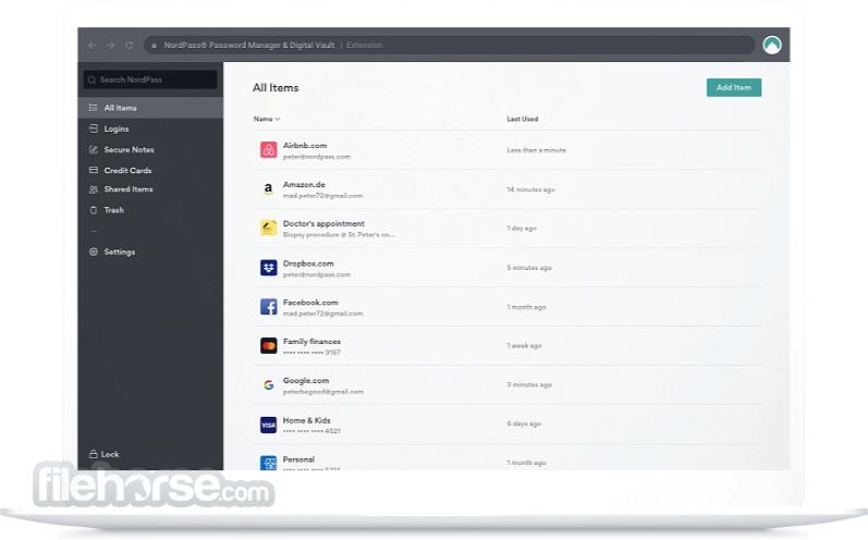 NordPass 1.6.0 (32-bit) Screenshot 1