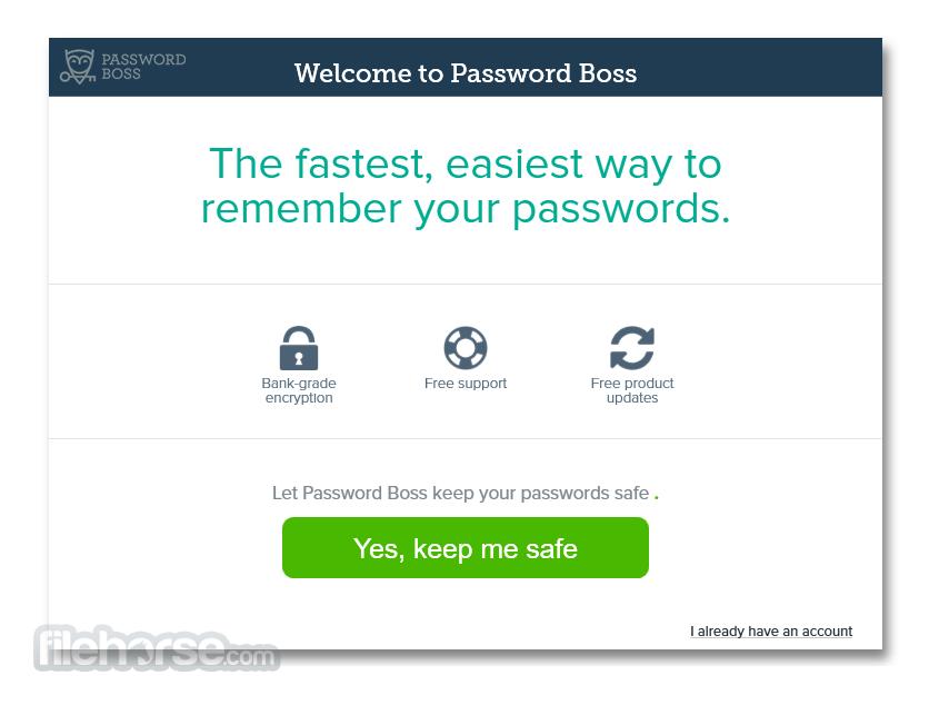 Password Boss 2.0.3214.0 Captura de Pantalla 1