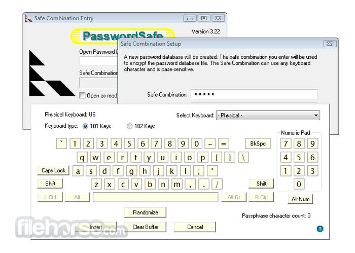 Password Safe 3.44 Captura de Pantalla 1