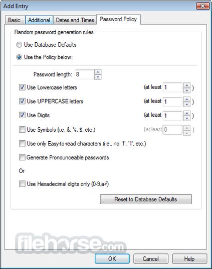 Password Safe 3.44 Captura de Pantalla 2