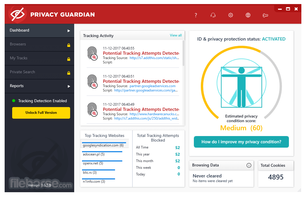 Privacy Guardian 1.0.8.2 Screenshot 1