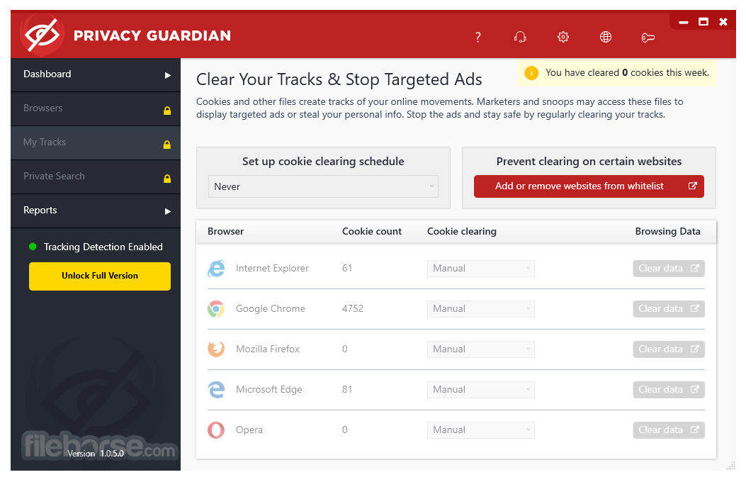 Privacy Guardian 1.0.7.0 Captura de Pantalla 3