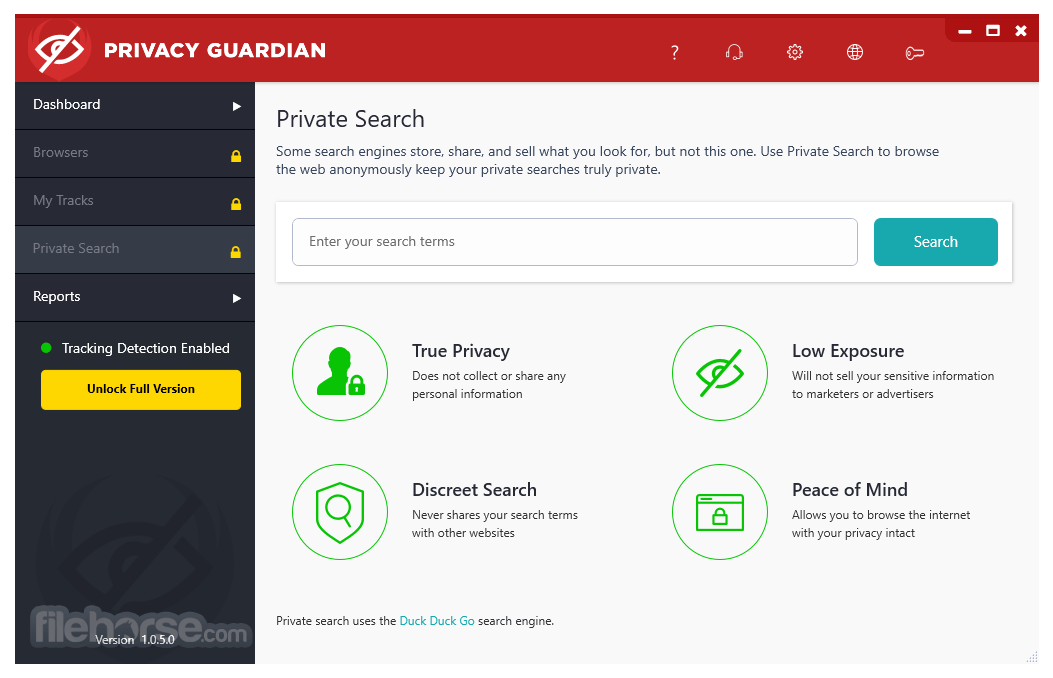 Privacy Guardian 1.0.7.0 Captura de Pantalla 4