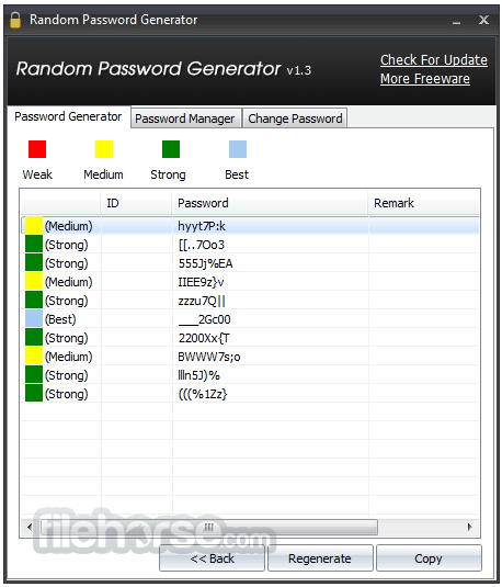 Random Password Generator 1.3.0 Screenshot 2