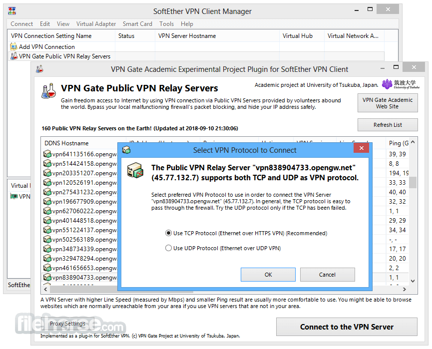 SoftEther VPN Gate Client Plugin Download (2019 Latest) for PC