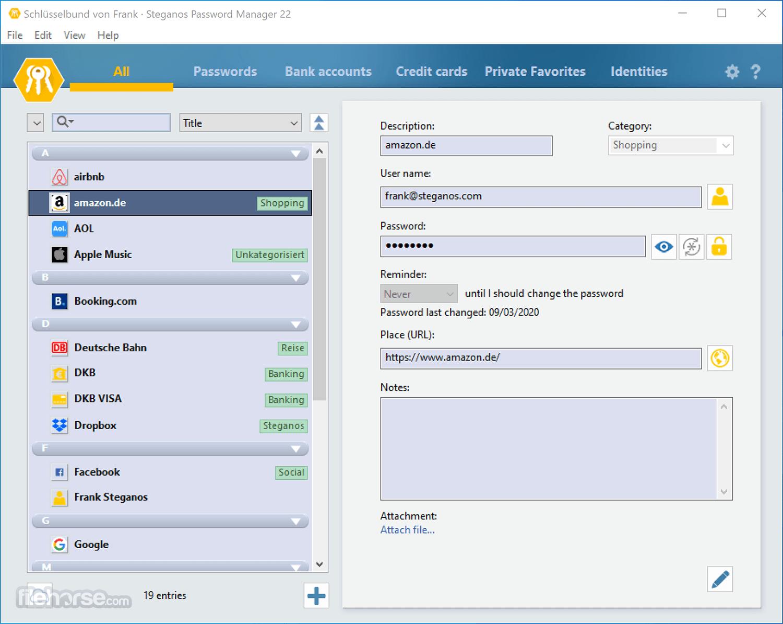 Steganos Password Manager 22.2.2 Screenshot 1