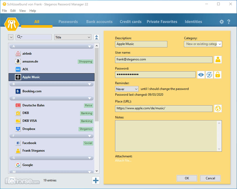 Steganos Password Manager 22.2.2 Screenshot 2