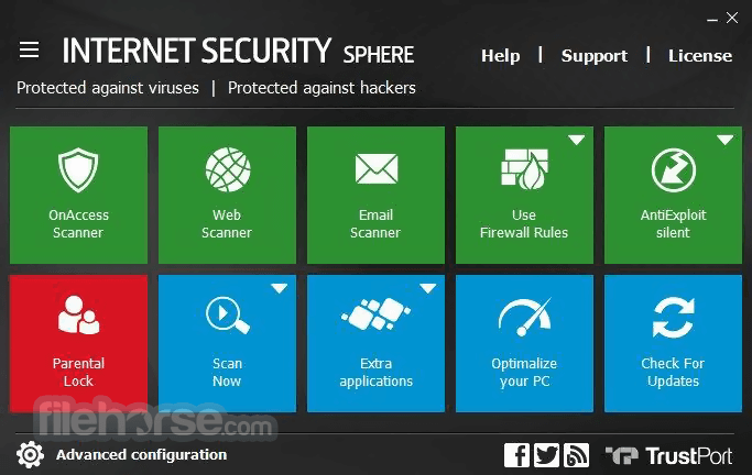 TrustPort Internet Security 2017 17.0.3.7038 Screenshot 1