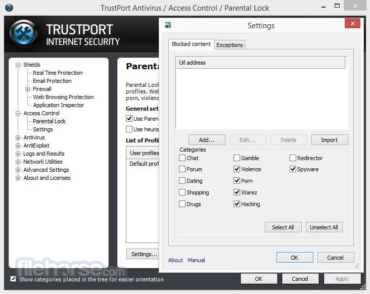 TrustPort Internet Security 2017 17.0.3.7038 Screenshot 5