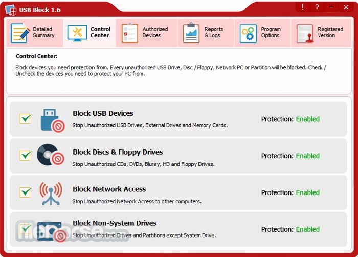 USB Block 1.7.2 Screenshot 2