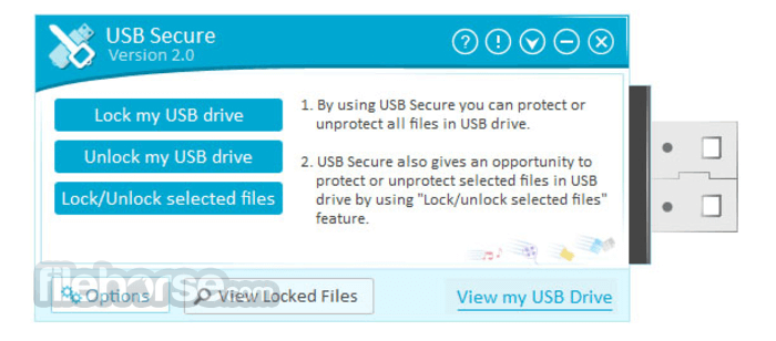 USB Secure 2.1.6 Captura de Pantalla 1