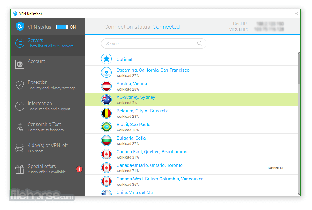 VPN Unlimited 7.0 Screenshot 1