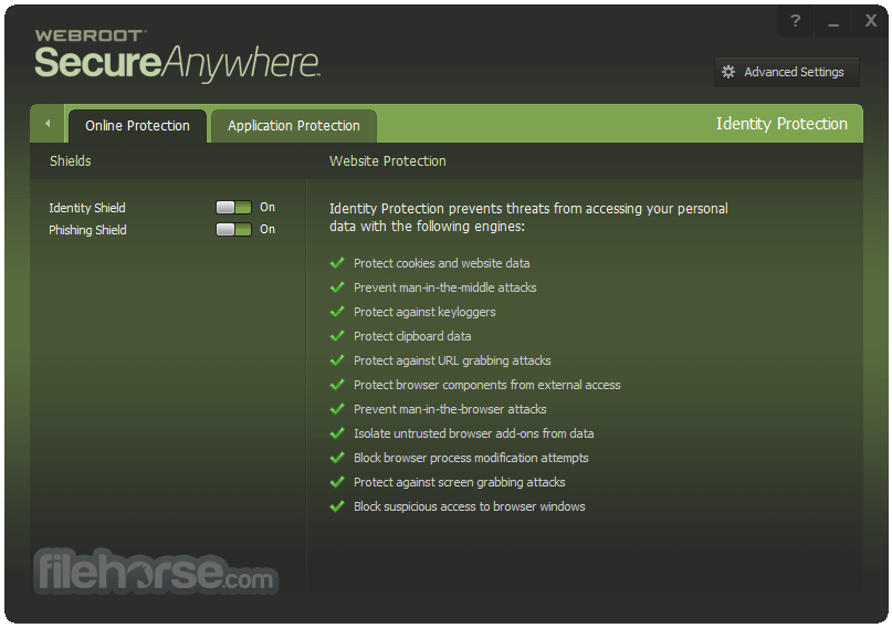 Webroot SecureAnywhere Internet Security Plus 9.0.18.44 Screenshot 2