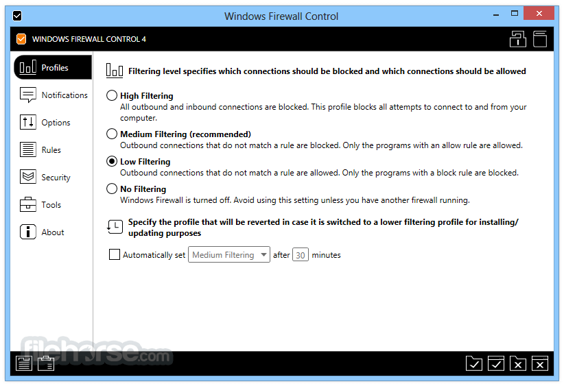 Windows Firewall Control 5.3.1.0 Screenshot 1