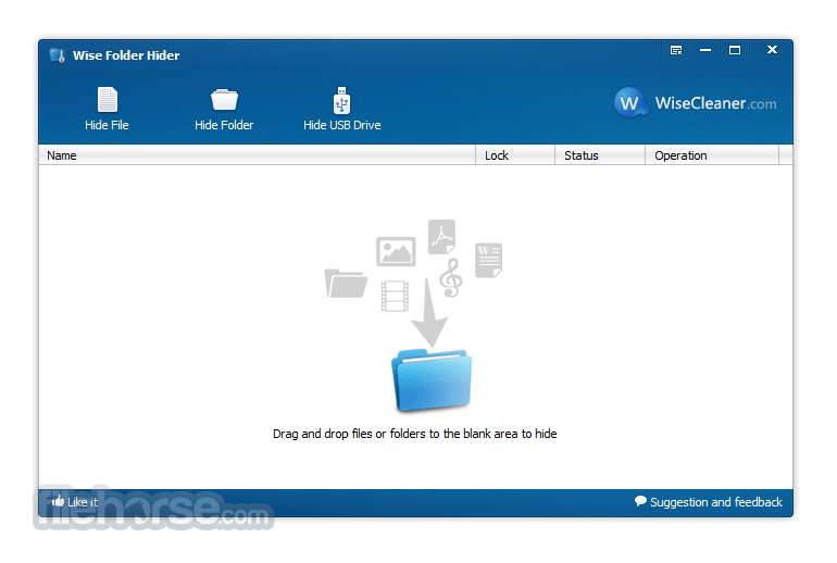 Wise Folder Hider 4.3.9 Captura de Pantalla 2
