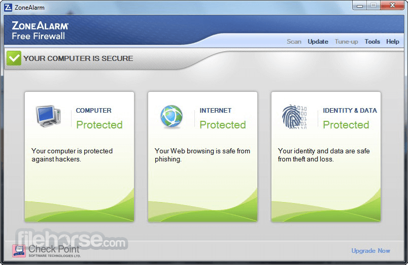 ZoneAlarm Free Firewall 15.1.509.17508 Captura de Pantalla 1