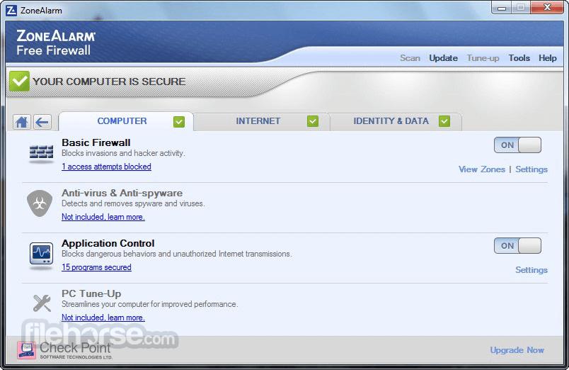 ZoneAlarm Free 7.0.337.0 Screenshot 4.