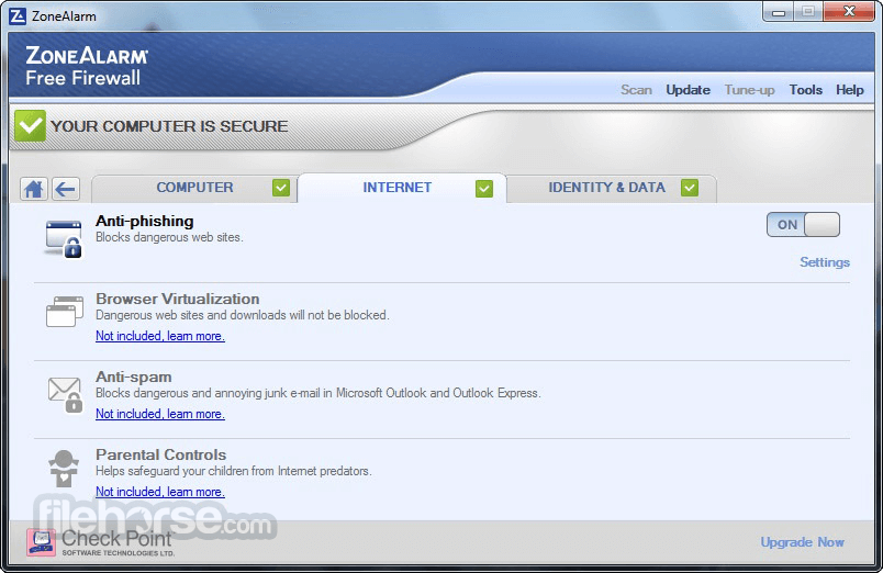 ZoneAlarm Free Firewall 15.1.509.17508 Captura de Pantalla 3