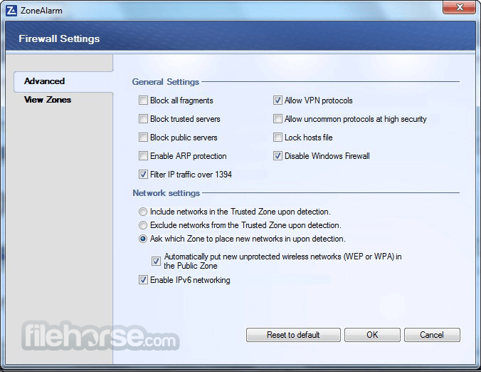 ZoneAlarm Free Firewall 15.1.509.17508 Captura de Pantalla 5