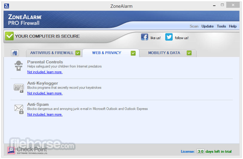 ZoneAlarm Pro Firewall 15.3.060.17669 Screenshot 3