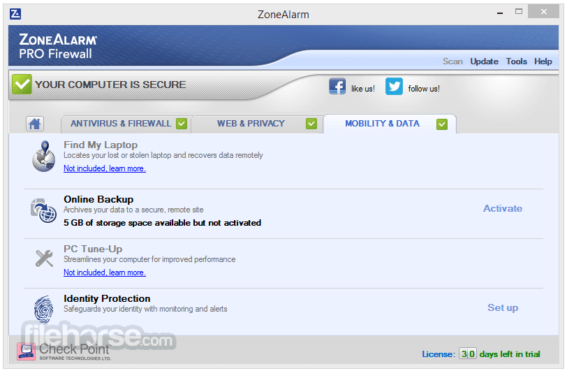 ZoneAlarm Pro Firewall 15.3.060.17669 Screenshot 4