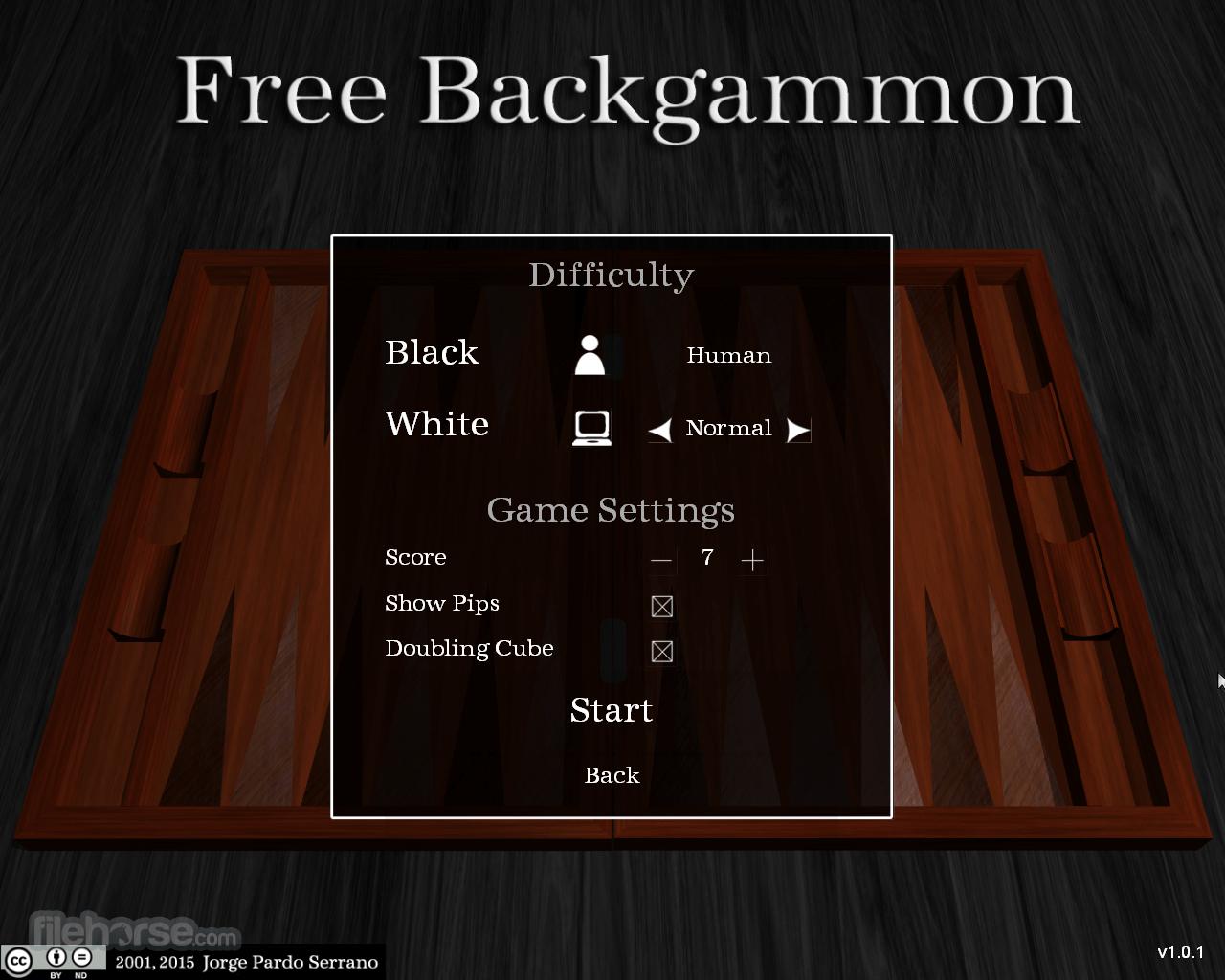 Free Backgammon 1.0.1 Screenshot 2