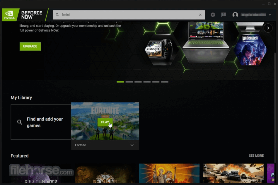 GeForce NOW 2.0.29 Screenshot 1