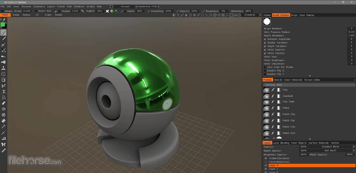 3D Coat 4.9.62 Screenshot 2