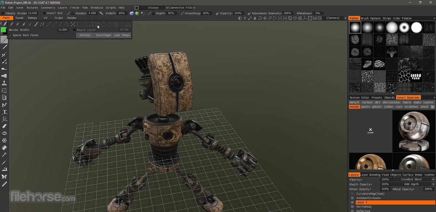 3D Coat 4.9.62 Screenshot 3