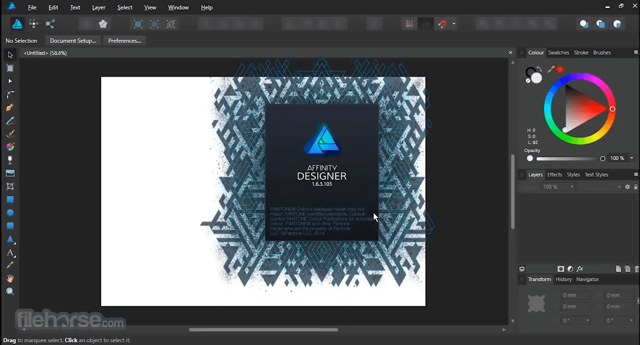 Affinity Designer 1.8.5.703 Screenshot 1