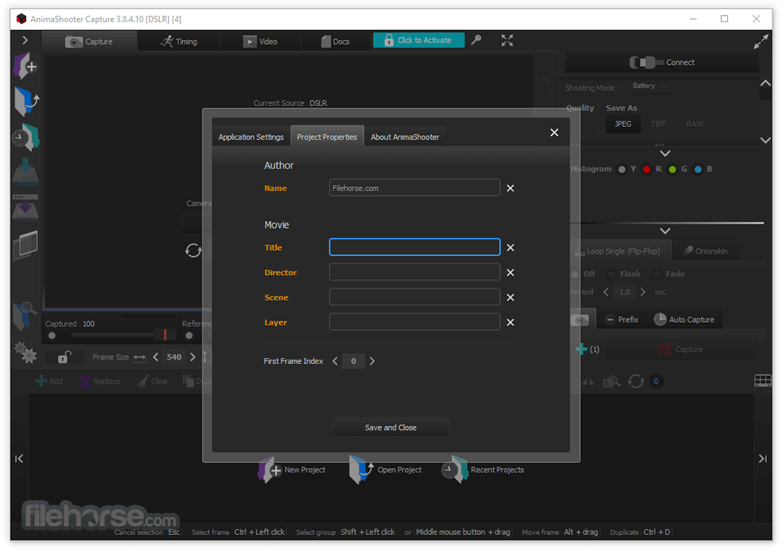 AnimaShooter Capture 3.8.7.6 Screenshot 3