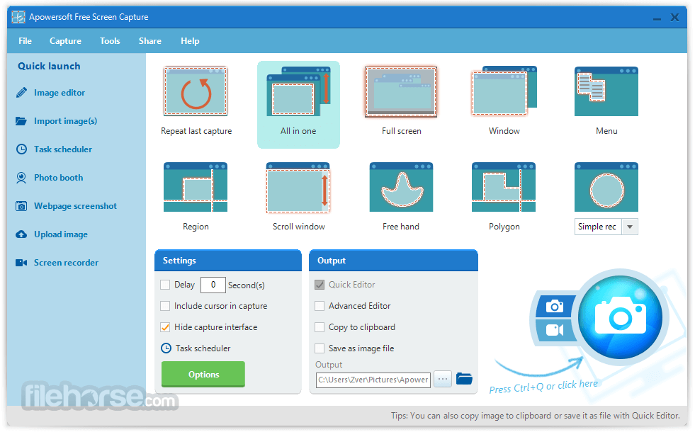 Apowersoft Free Screen Capture 1.3.5 Screenshot 1
