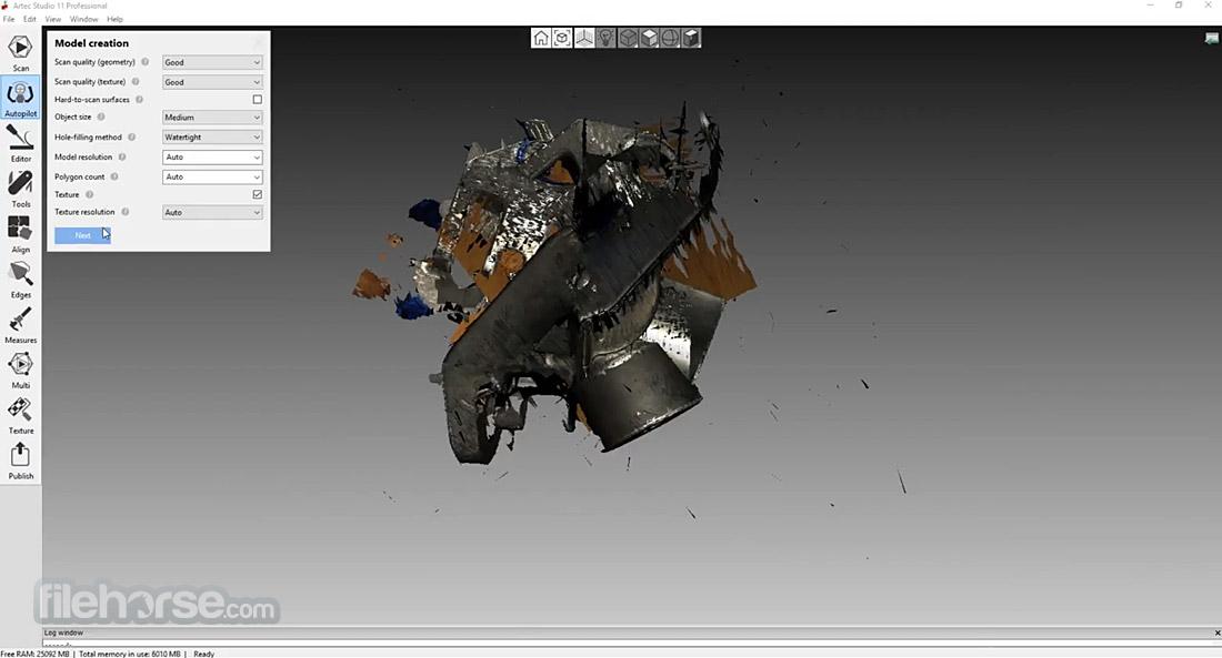 Artec Studio 12.1.6.16 (64-bit) Captura de Pantalla 4